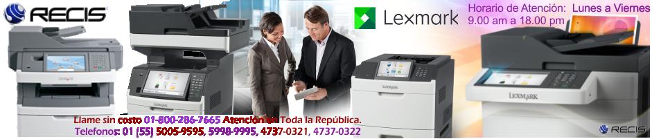 Consumibles Lexmark,Copiadoras Lexmark, Impresoras Lexmark, Multifuncionales Lexmark, Refacciones Lexmark, Toner Lexmark, Fusor Lexmark, Lexmark